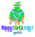 design style happy earth day vector image vector image