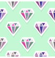 diamonds abstract seamless pattern vector image vector image