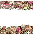 Doodle horizontal ornamental frame for banner vector image vector image