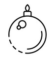 fir tree xmas toy ball icon outline style vector image