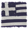 Flag of Greece handmade square shape vector image vector image