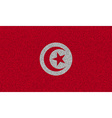 Flags Tunisia on denim texture vector image vector image