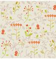 floral pattern background vector image vector image