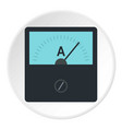 gauge element icon circle vector image vector image