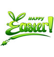 happy easter lettering isolated on white backgroun vector image