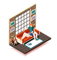 home rest weekend isometric composition vector image vector image