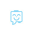 joyful speech linear icon concept joyful speech vector image vector image