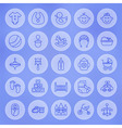 Line Circle Baby and Child Icons Set vector image