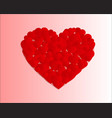 many small hearts forming one big heart vector image