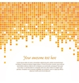 Orange pixel background vector image vector image