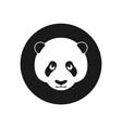 panda sign vector image