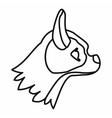 Pug dog icon outline style vector image