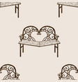 reconciliation bench seamless pattern engraving vector image vector image