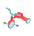 Red kid tricycle icon cartoon style vector image
