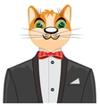 Redhead cat in suit vector image vector image