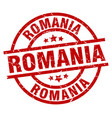 romania red round grunge stamp vector image vector image