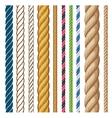 ropes set cartoon isolated vector image