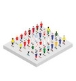 set of isometric football players vector image vector image