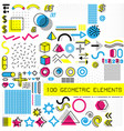 set of memphis design elements template for your vector image