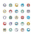 Shopping Cool Icons 1 vector image