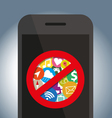 Signes icon do not use on mobile phone vector image vector image