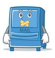 silent mailbox character cartoon style vector image vector image