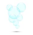 Soap bubbles2 vector image vector image