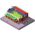 soccer stadium isometric projection icon vector image