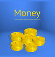 stacks of gold coins business template for design vector image vector image