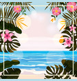 summer tropical background template with exotic vector image vector image