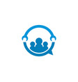 team work service repair logo vector image