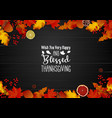 Thanksgiving day greeting card with autumn leaves