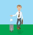 throw trash in the trash info Banner vector image vector image