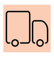 truck line icon for logistic company vector image