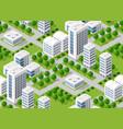 urban isometric area vector image vector image