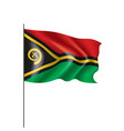vanuatu flag on a white vector image vector image