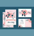 wedding invitation card set suite with romantic vector image vector image