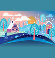 winter landscape background vector image vector image