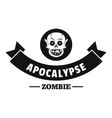zombie hunting logo simple black style vector image vector image