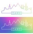 cairo skyline colorful linear style editable vector image
