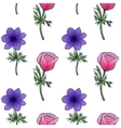 seamless background of flower anemones vector image