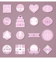 Set of wedding decorative stickers vector image
