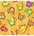 Teacups Pattern vector image