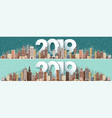 2019 winter urban landscape city with snow vector image vector image