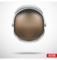 Astronaut helmet with reflection glass vector image