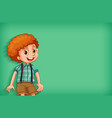 background template design with happy boy smiling