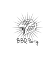 BBQ Party Badge Meat grill label isolated on white vector image vector image