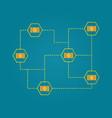 blockchain bitcoin cash networking concept vector image