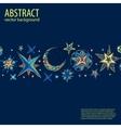 Blue starry fantastic background vector image vector image