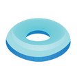 blue swim ring vector image vector image